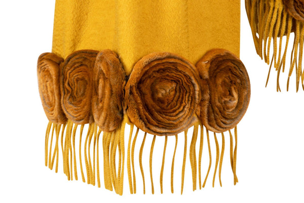 fbb06aaee3ae ... Fendi Scarf Rare Mink Roses Cashmere Collectors Piece - mightychic ...