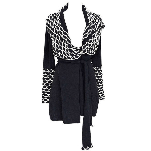 TEMPERLEY Sweater cardigan 'IMPERIAL' silk cashmere  S