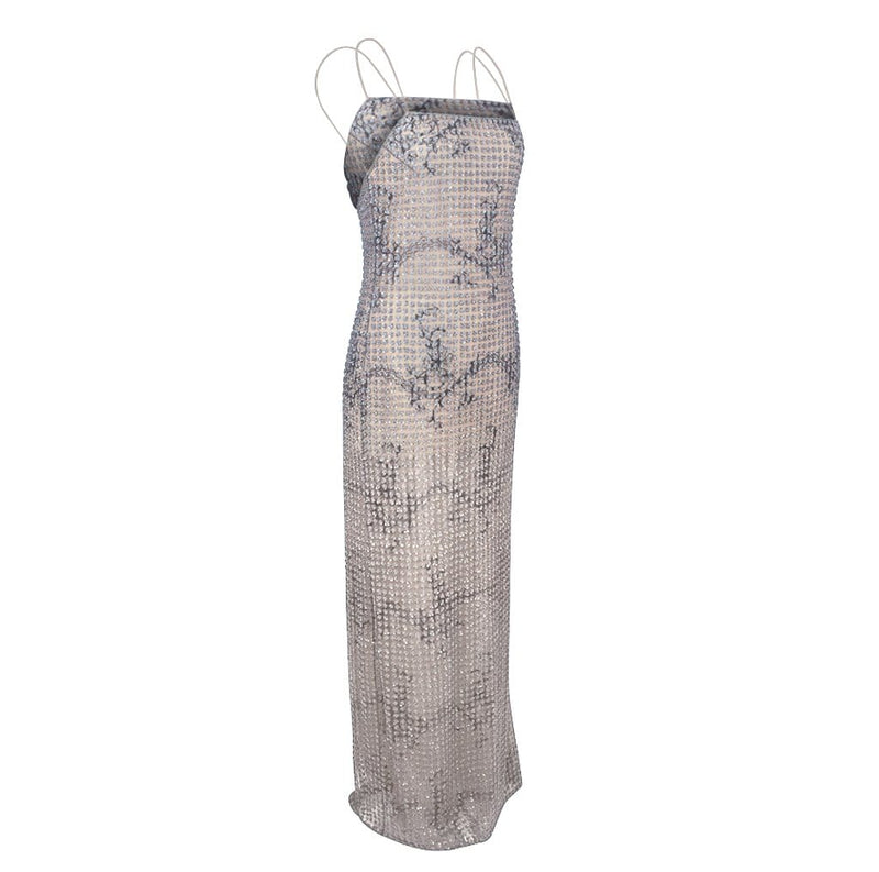 Giorgio Armani Dress Beaded Fleurette on Tulle Formal Gown New 40 / 6  New
