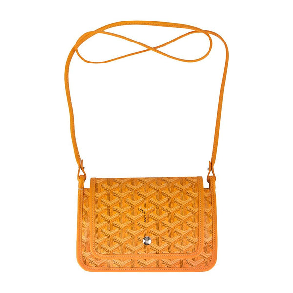 Goyard Plumet Bag Clutch Crossbody Wallet Yellow Coated Canvas New