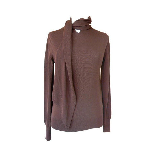 Hermes Top w/ Self Neck Tie Brown M