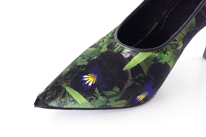 Givenchy Shoe Lush Exotic Textile Print Pump 38.5 / 8.5 - mightychic
