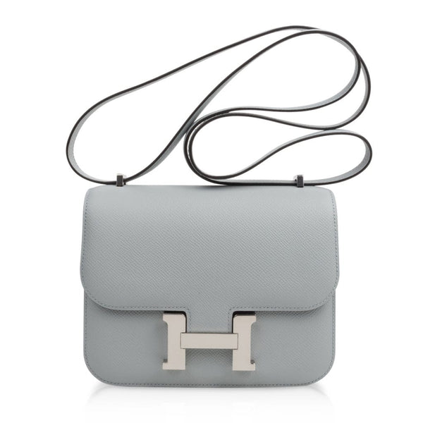 Hermes Constance 18 Bag Blue Glacier Epsom Palladium Hardware New - mightychic