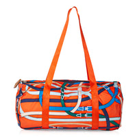 Hermes Bag Airsilk Duffle Cavalcadour 38 Orange Silk Limited Edition New