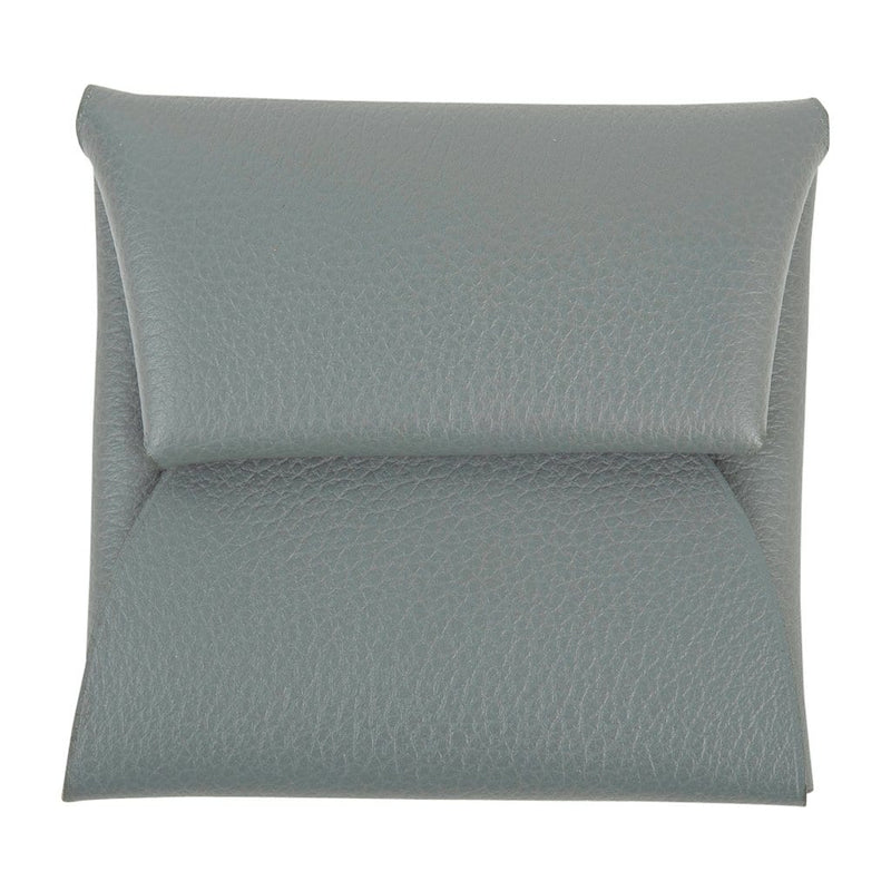 Hermes Bastia Verso Change Purse Vert Amande and Gris Perle Evercolor Leather