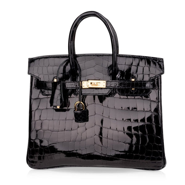 hermes-birkin-25-bag-black-crocodile-gold-hardware-shop-online-at-mightychic.com