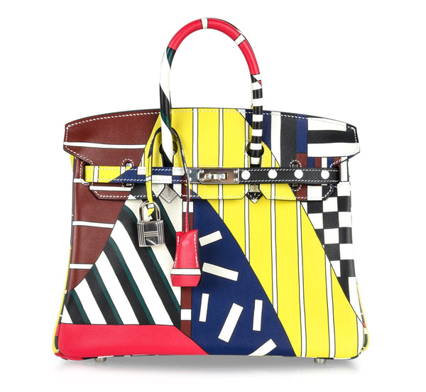 Hermes Birkin 25 Bag One Two Three and Away We Go Limited Edition Nigel Peake - mightychic