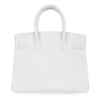 Hermes Birkin 30 Bag White Epsom Leather Gold Hardware New - mightychic