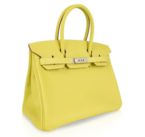 b51b32da1eed ... Hermes Birkin 30 Bag Rare Lime Candy Limited Edition Gris Perle  Interior Palladium - mightychic ...