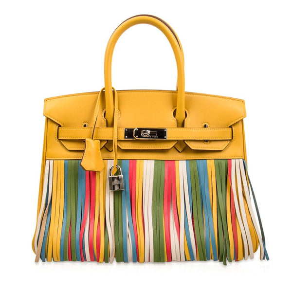 80359912f12a Hermes Birkin 30 Bag HSS Soleil Fringe Multi Colour Limited Edition