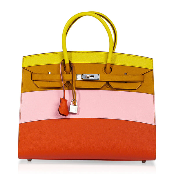 Hermes Sunrise Rainbow Sellier Birkin 35 Limited Edition Bag