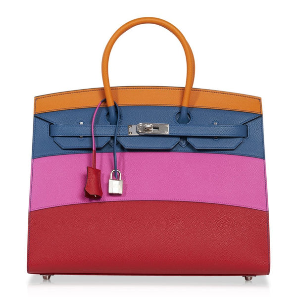 Hermes Sunset Rainbow Sellier Birkin 35 Limited Edition Bag