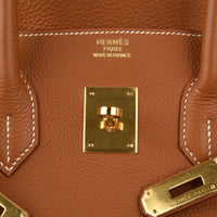 Hermes Birkin 35 Bag Coveted Gold Togo Gold Hardware - mightychic