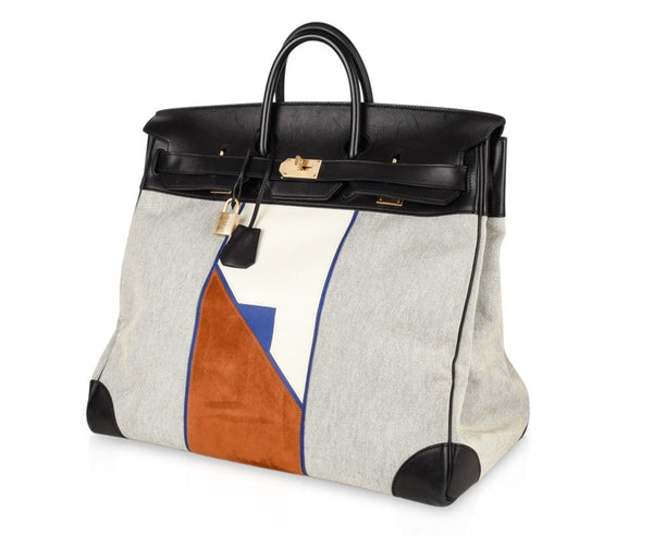 26e68aa5a51a ... wholesale hermes birkin 50 bag limited edition flag hac leather suede  toile permabrass 596fa 658ff ...
