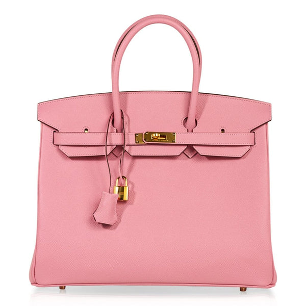 Hermes Birkin HSS 35 Bag Rose Confetti / Rubis Gold Hardware Epsom Leather