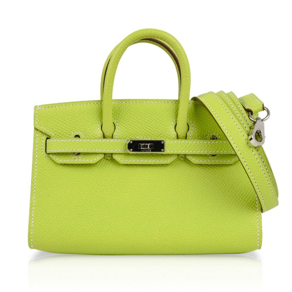 dd45cfbf16a ... Hermes Birkin Tiny Bag Miniature Micro Kiwi Epsom Limited Edition -  mightychic ...