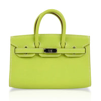 Hermes Birkin Tiny Bag Miniature Micro Kiwi Epsom Limited Edition - mightychic