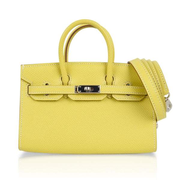 Hermes Birkin Tiny Bag Miniature Micro Lime Limited Edition rare - mightychic