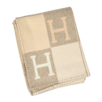Hermes Blanket Avalon I Signature H Coco and Camomille Throw Blanket - mightychic
