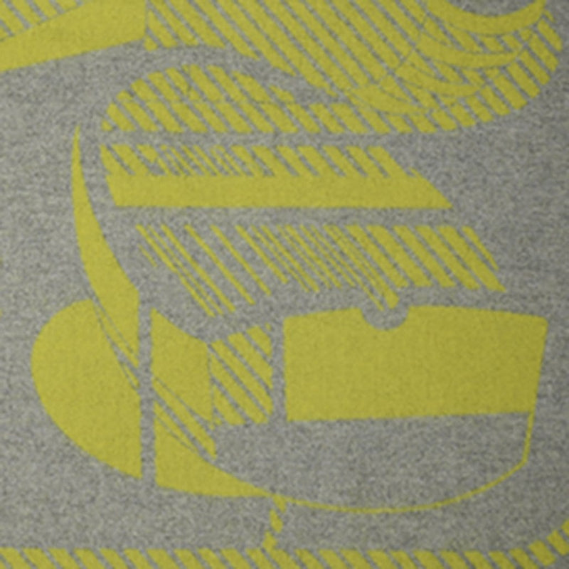 Hermes Blanket Thalassa Jacquard Merino Grey and Yellow new - mightychic