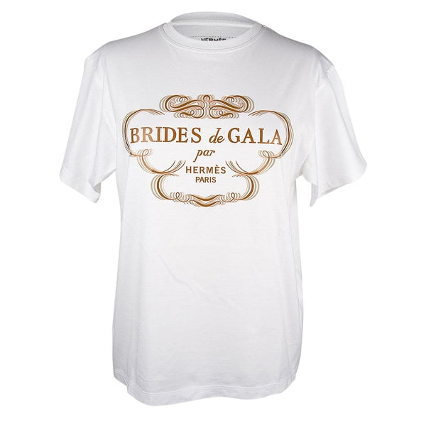 Hermes Tee Shirt White Brides de Gala Top 38 / 6 nwt