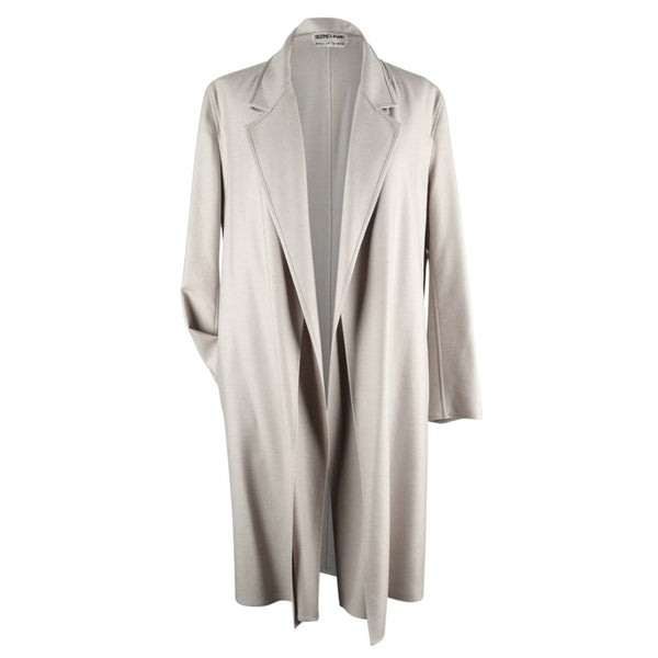 Hermes Coat Cashmere 2 Piece Vest Coat Pearl Gray 40 / 6