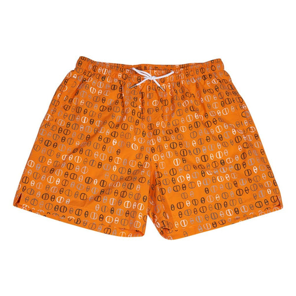 Hermes Men's Chaine D'Ancre Swim Trunks Orange L