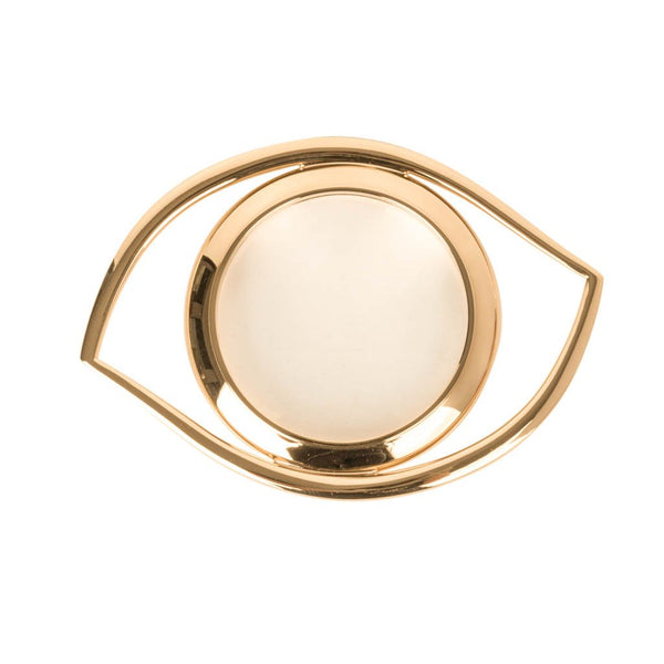 Hermes Eye of Cleopatra Magnifying Glass Golden Brass - mightychic