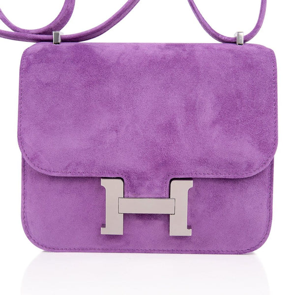Hermes Constance Doblis Violet Clair 18 Limited Edition Bag  Palladium