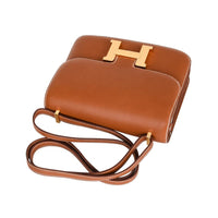 Hermes Constance Bag 18 Rare Fauve Barenia Leather Gold Hardware - mightychic