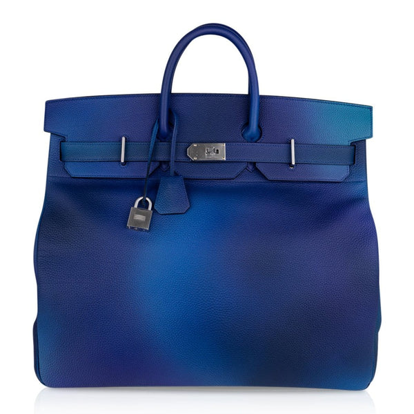 Hermes Hac Cosmos 50 Bag Blue Nuit / Violet Limited Edition