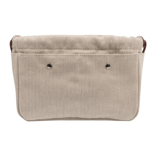 Hermes Fourbi 20 Handbag Pouch Canvas Barenia Leather Palladium Hardware - mightychic