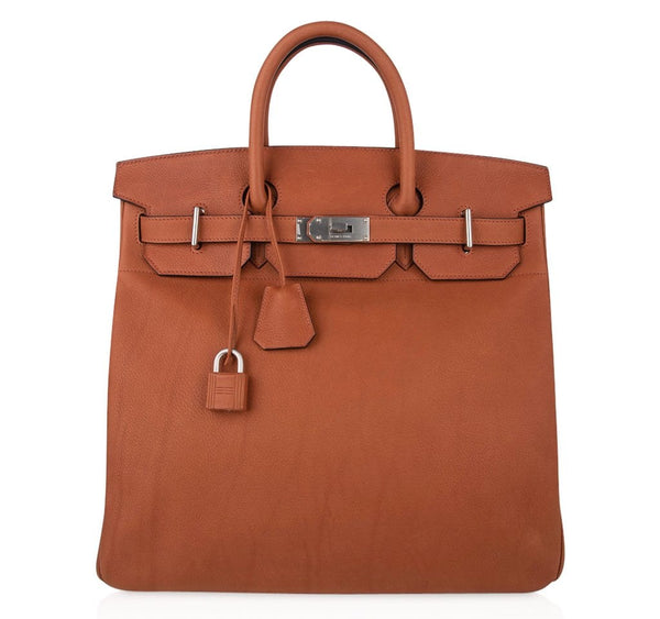 Hermes Birkin 40 Bag HAC Cuivre Taurillon Saddle Leather Brushed Palladium Hardware