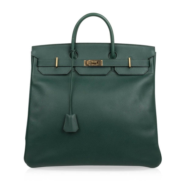 Hermes Hac 45 Vert Clair Brass Hardware Ardennes Leather