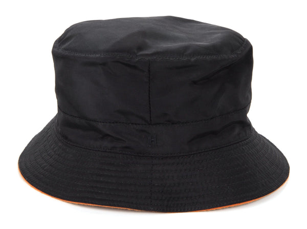 Hermes Hat Black w/ Burnt Orange Interior Rain Hat