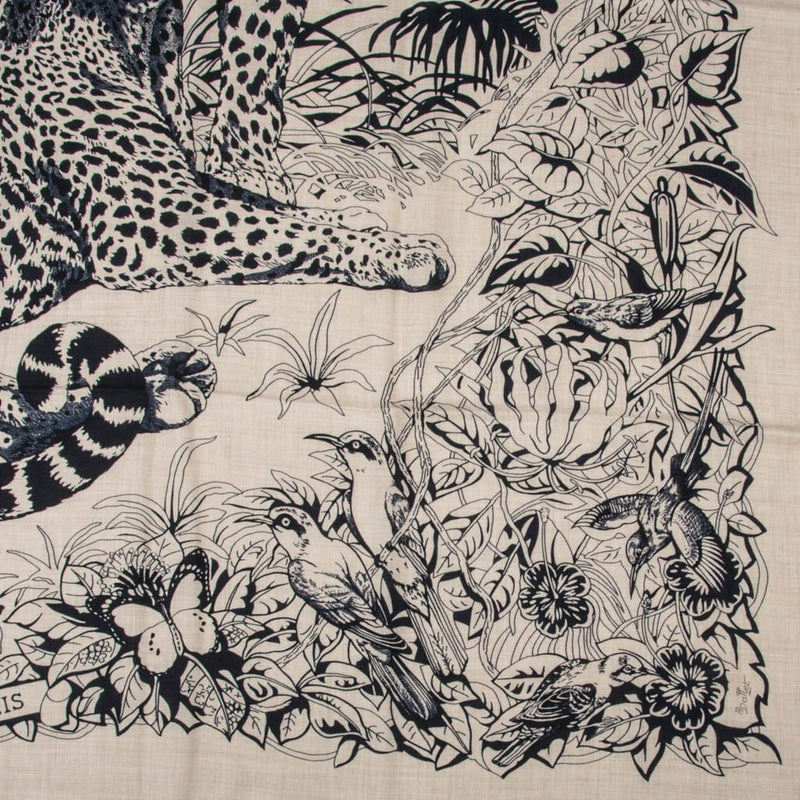 Hermes Shawl / Scarf Jungle Love Tattoo Cashmere Silk 140 cm