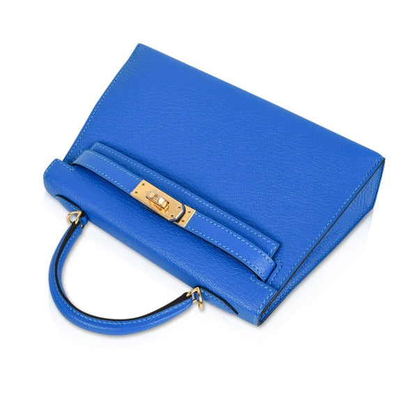 48e3b4b76c5d ... Hermes Kelly 20 Bag Sellier Blue Hydra Chevre Leather Gold Hardware -  mightychic ...