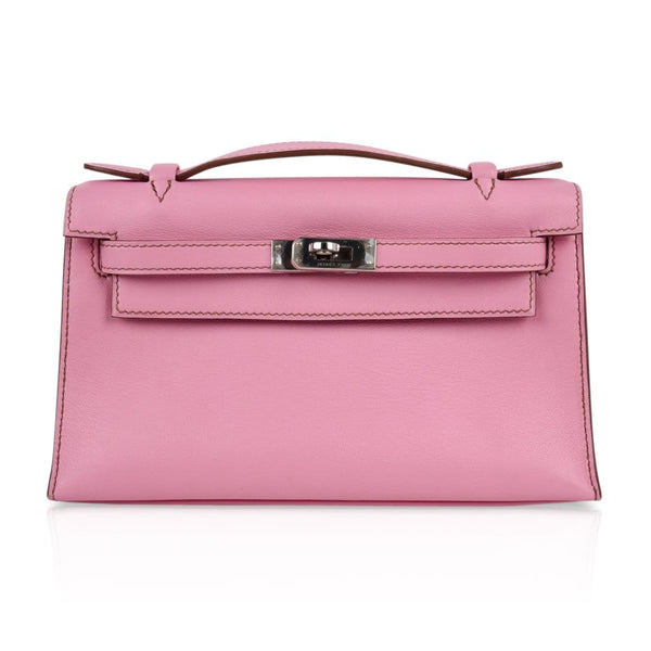 Hermes Kelly Pochette Coveted 5P Pink Holy Grail New - mightychic