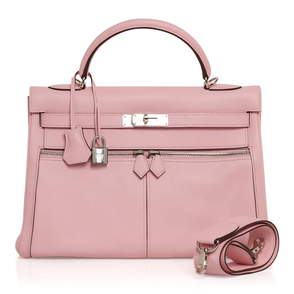 Hermes Kelly Lakis 32 Bag Rose Sakura Swift Palladium Hardware Limited Edtion