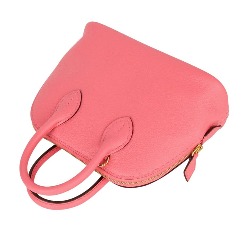 Hermes Bolide 1923 Mini Bag Rose Azalee Evercolor - mightychic