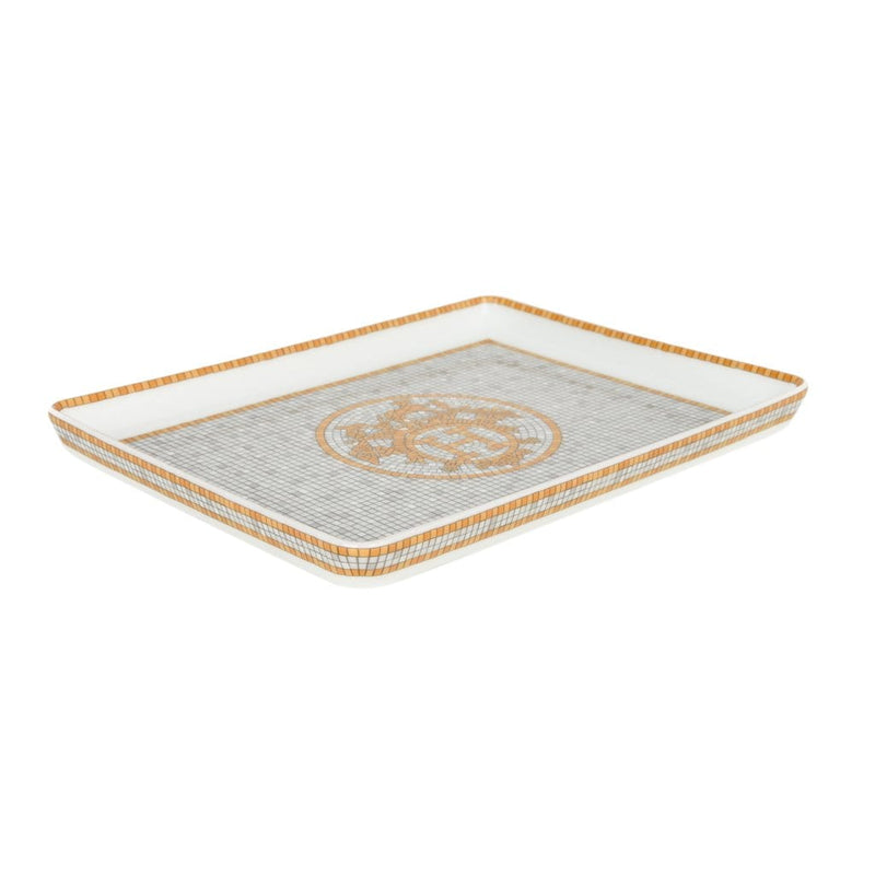 Hermes Sushi Plate Mosaique au 24 Gold Tray Small Model Porcelain - mightychic