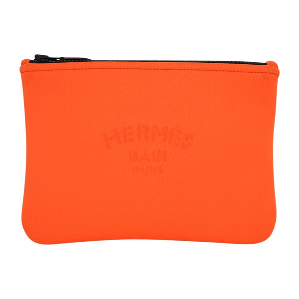 Hermes Neobain Pouch / Case Orange Small New