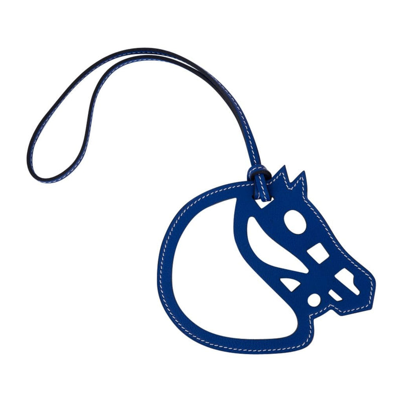Hermes Bag Charm Paddock Cheval Electric Blue New w/ Box
