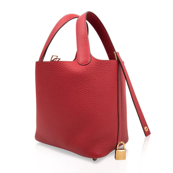 394481f963 ... Hermes Picotin Lock 18 Rouge Casaque Clemence Gold Hardware -  mightychic ...
