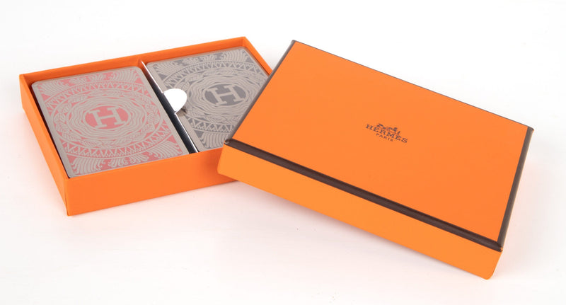 Hermes Playing Cards Les 4 Mondes 2 Deck Set - mightychic