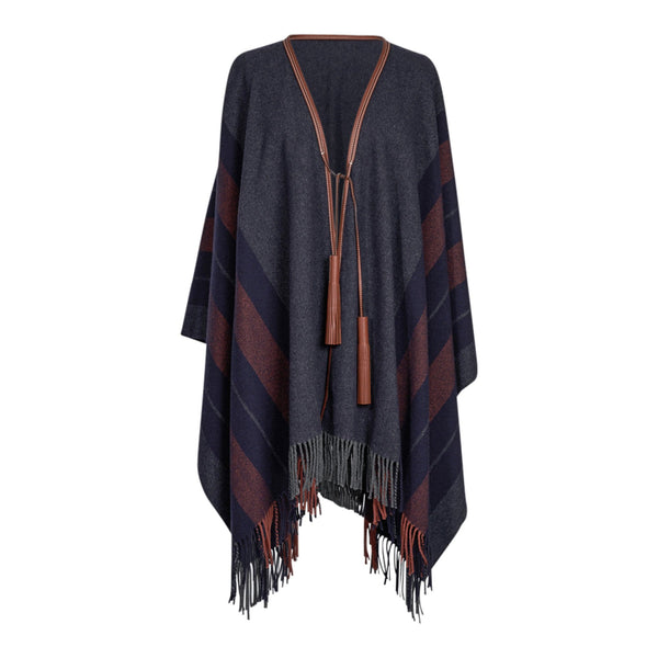 Hermes Rocabar Poncho Unisex Casaque General Purpose / Gris New