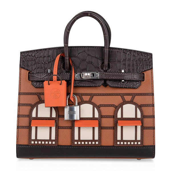 Hermes Birkin 20 Sellier Faubourg Bag Limited Edition Palladium Hardware