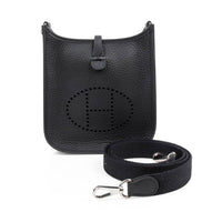 Hermes Evelyne TPM Bag Black Clemence Palladium - mightychic