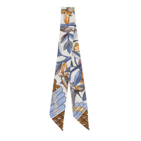 Hermes Twilly Tree Of Song Creme Mauve Ocre New Scarf - mightychic