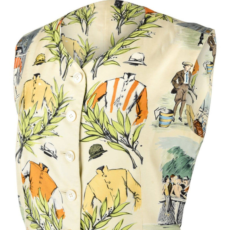 Hermes Vest Chantilly Scarf Print by Maurice Taquoy Vintage 36 4 - mightychic